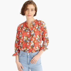 J. Crew Classic Popover shirt in Liberty® Coral